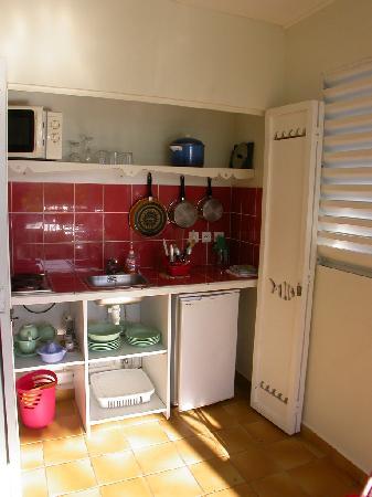 Village Ti Figues: le coin cuisine de notre gite