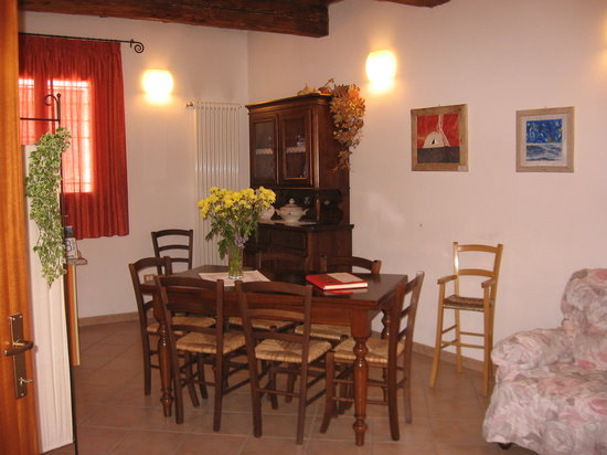 Casa Cortesi: The breakfast- and livingroom
