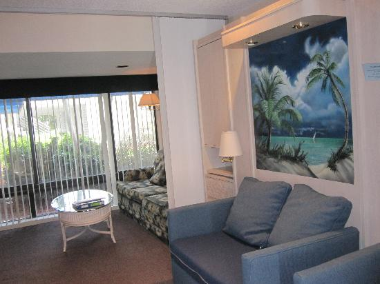 Murphy Bed Where Tropical Picture Is Sofa Sleeper Living Room Gulf
