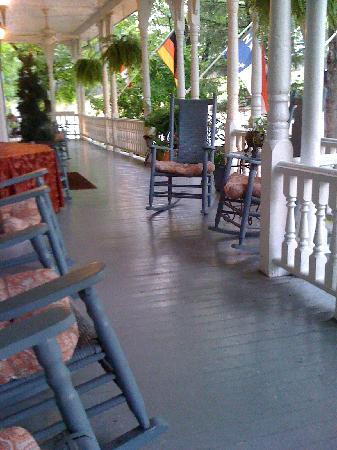 1898 Waverly Inn: the rocking chair front porch