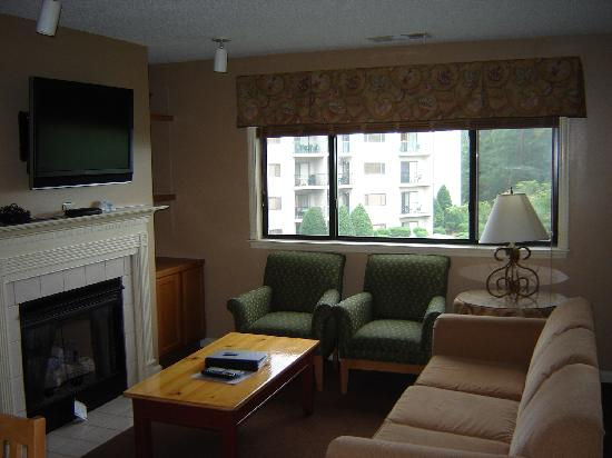 Laurel Crest: Fireplace, Flat Screen, Stereo, Couch, Chairs, U0026 Even