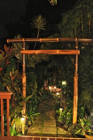Honu Kai B&B: outside at night