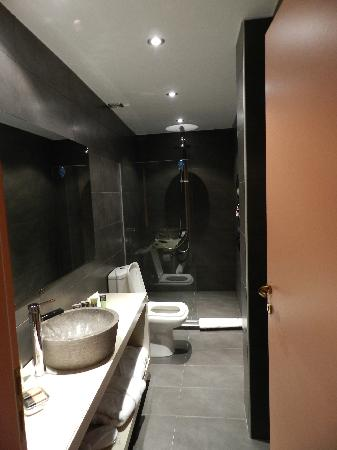 Alcanea Boutique Hotel: Modern bathroom, a strikingly delightful contrast