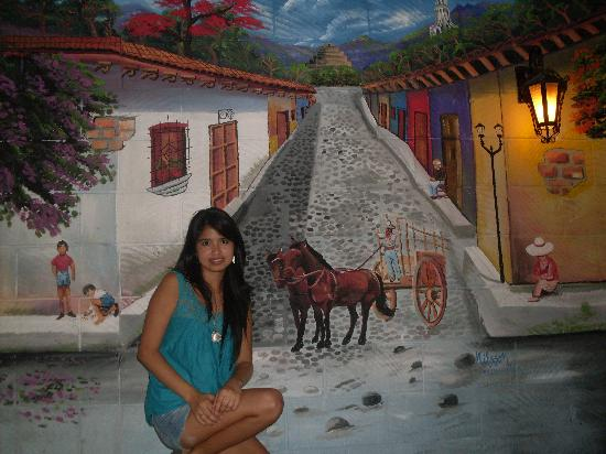 Hotel Tazumal House: Muro en Hotel Tazumal
