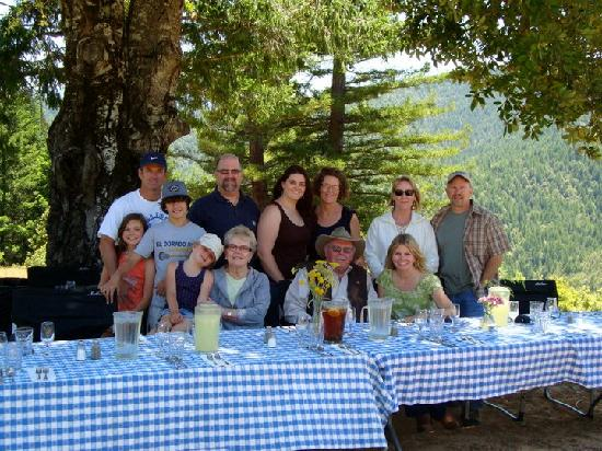 Blackbird Farm: They even catered a picnic for our family at the top of the hill!