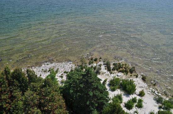 View from the top of Cana Island Lighthouse