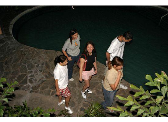 R&R Resort Spa: Pool at night