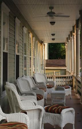 Okawville, IL: The front porch in early evening
