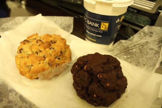 Levain Bakery: Chocolate Chip Walnut & Double Chocolate Peanut Butter Cookies