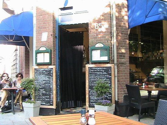 Tapa Feliz: Front of restaurant with Blackboard menus