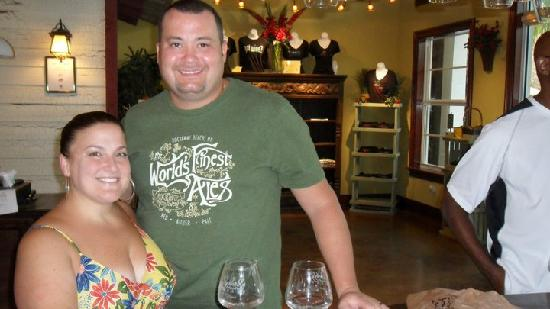 Schnebly Redland's Winery : my husband and me!