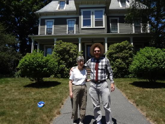 Carruth House: My wife and I in front of Ashmont House.