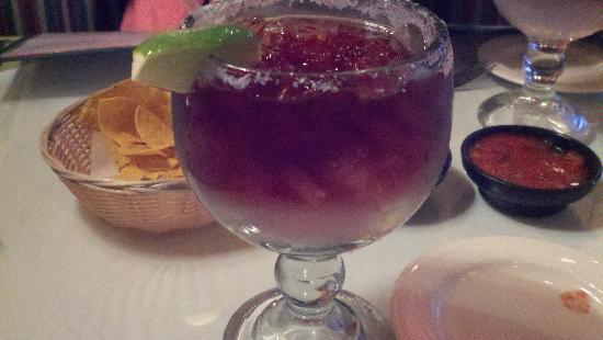 Carlos Miguels Mexican Bar: Margarita (this one is made with red wine)