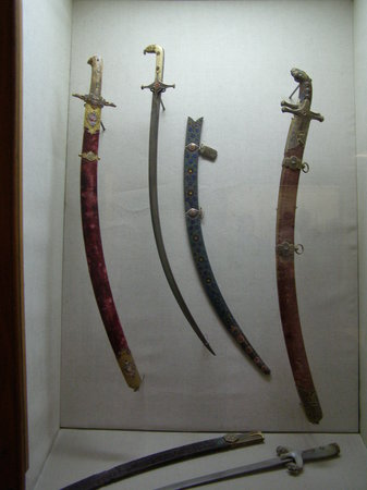 Historic Areas of Istanbul : Swords of Ottomon Sultans in Top Kapi Palace