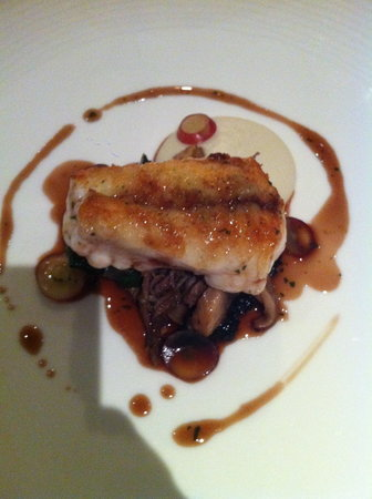 Restaurant Nathan Outlaw: monkfish with duck and pickled mushrooms which was the highlight of the meal
