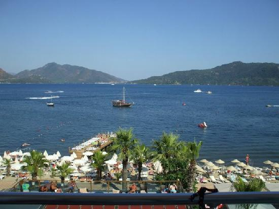 Emre Beach : view from our balcony