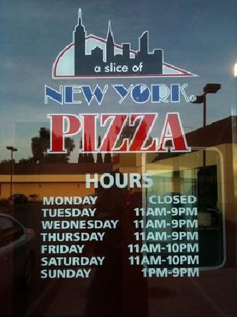 A Slice of New York - Sunnyvale : Front door