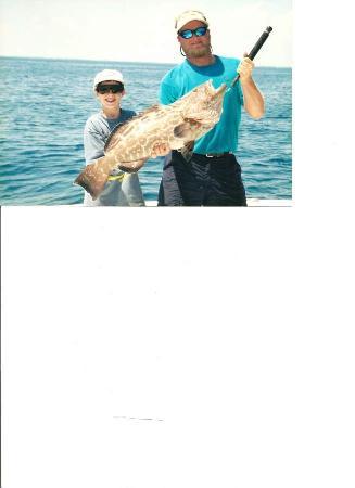 Tag 'Em Sport Fishing Charters: First grouper- 22 lbs.