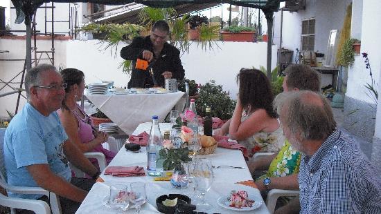 Andora, Italien: Ruggero Luisi is preparing the best Creme Brulé I've ever tasted!