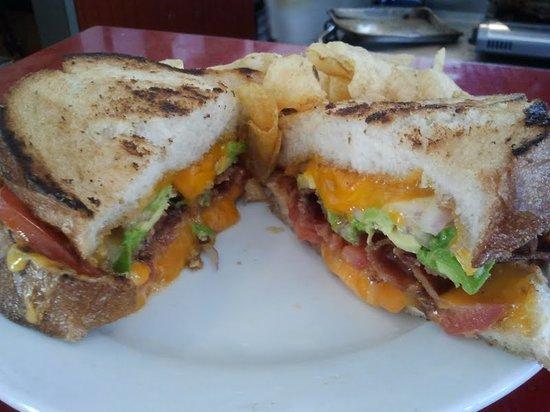 Dolores Park Cafe: Cheese sandwich on sourdough