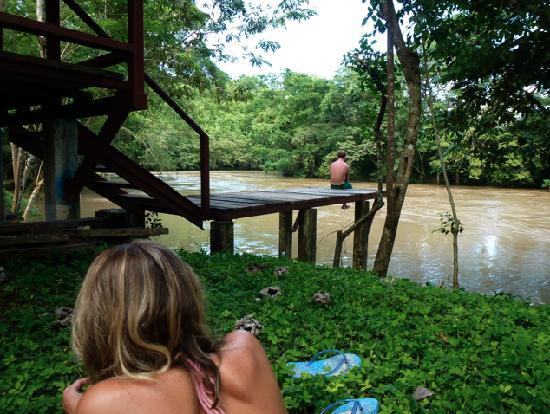 Posada Las Marias: Chilling at the River