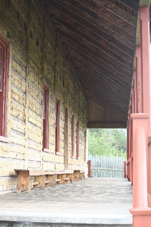 Grand Portage, MN: Back porch of the dining/meeting hall