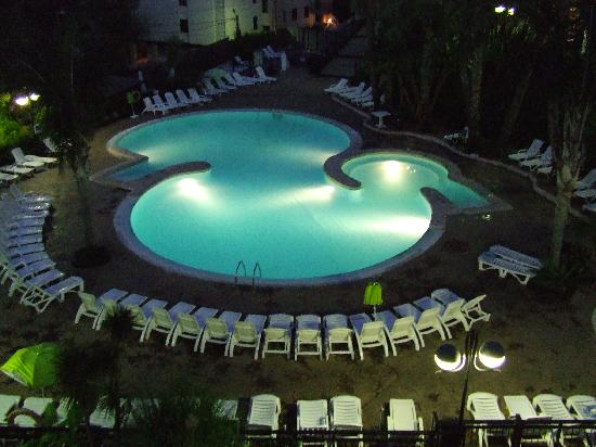 Festival Village: night shot of pool