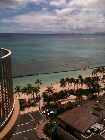Aston Waikiki Beach Hotel: this is our view from 'ocean view' room