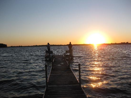 Dickerson's Lake Florida Resort: fishing at sunset