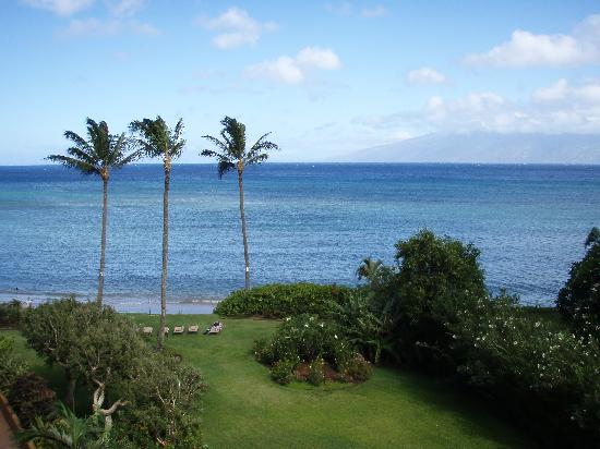 Maui Beach Ocean View Rentals: View from Royal Kahana #404 balcony