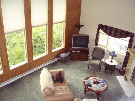 Susitna Sunsets Bed And Breakfast : living room