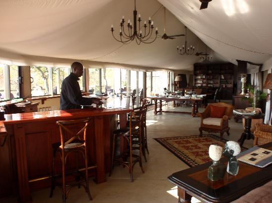 The Elephant Camp: Our delightful barman Dixon
