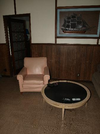 "Indiana Beach Camp Resort: Modern furniture and modern artwork in our ""modern"" cottage."