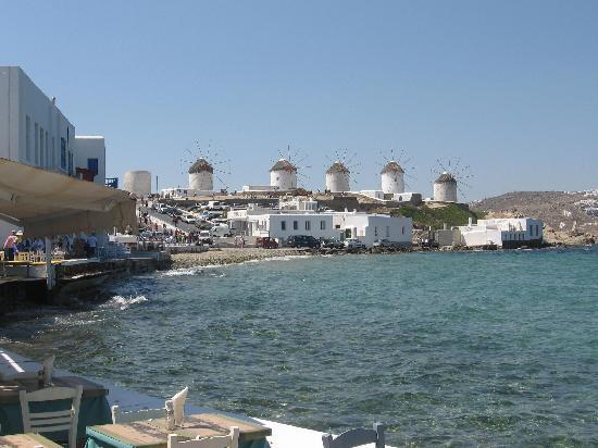 Mykonos (miasto), Grecja: insieme dei mulini