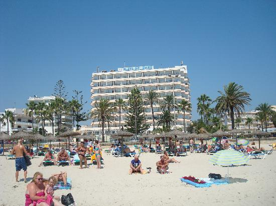 SENTIDO Playa del Moro: View of Hotel from the Beach