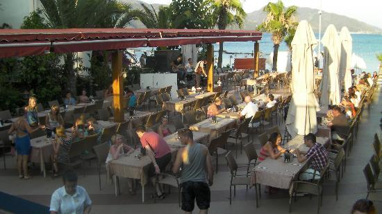 Emre Beach : The out door dinning area,