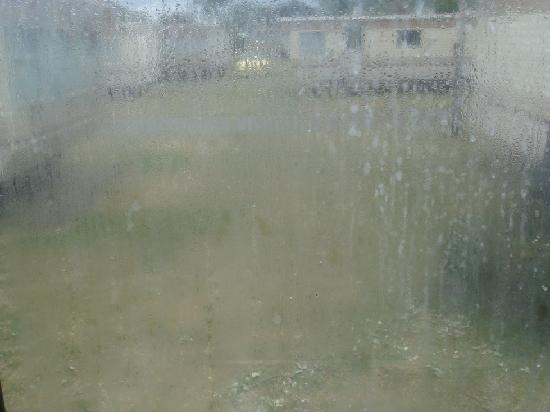 Vauxhall Holiday Park: view from window, no its not raining outside