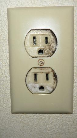 Comfort Suites South Burlington: Mold growing out of outlet