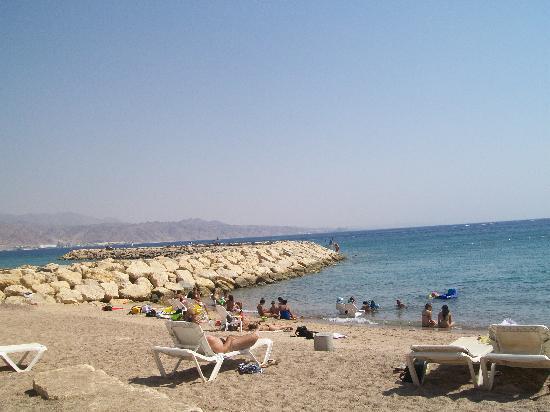 Herods Palace Hotel Eilat: Plage de l'hotel