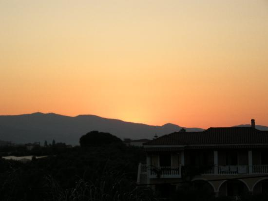 Arkadia Hotel: Sonnenuntergang vom Balkon