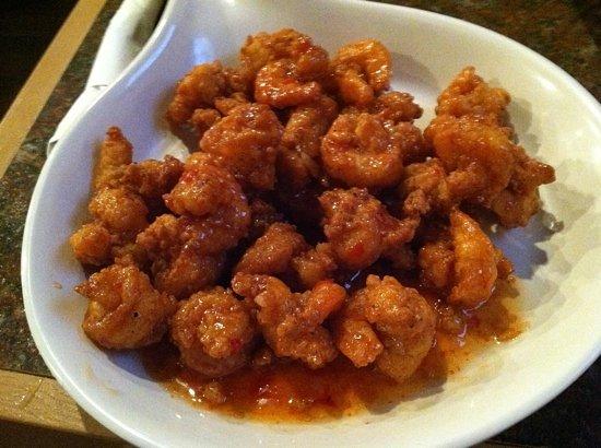 The Sandbar Seafood House and Deli: Chili-glazed shrimp!
