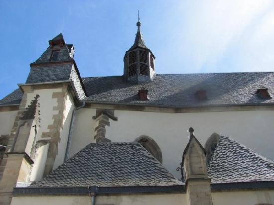 Eiermarkt mit Michel-Mort-Denkmal: Saint Nicholas church