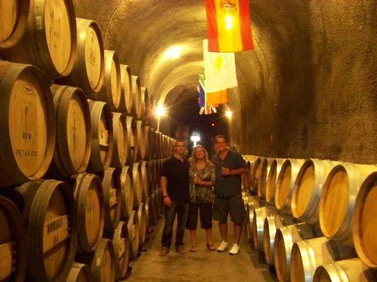 Intimate Wine Tours: Deep inside the 710 storage cave at Steltzner Vineyards.