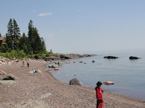 Temperance Landing: The Shore of Superior infront of the cottage