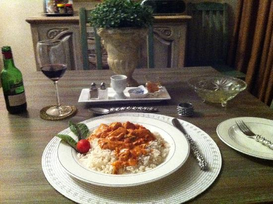 Hadassah's Guest House: One of the lovely dinners - made to order!