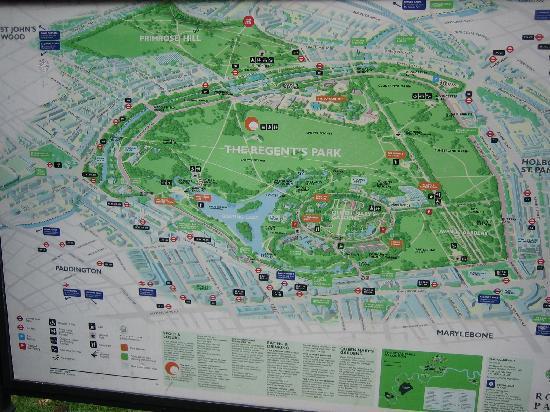 สวนรีเจนท์: Regent's Park map
