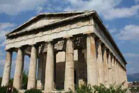Ancient Agora of Athens: the temple of hephaestos