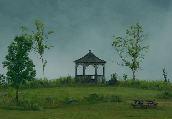 Margaretville, NY: Gazebo on the golf course