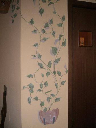 Decorazione su muro a trompe l 39 oeil foto di osteria for Decorazioni da muro