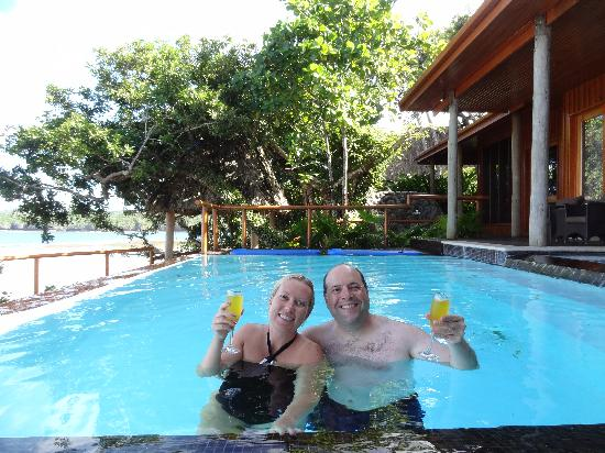 Namale Resort & Spa: Us in Dream House pool